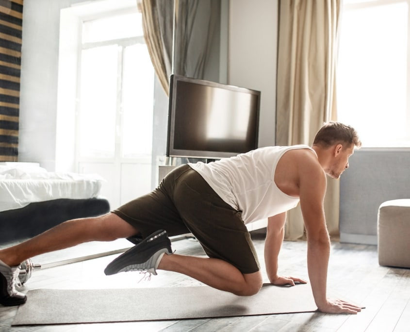 home workout training , fitness zuhause