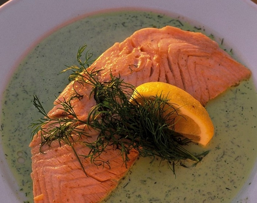 lachs in dillsauce low carb rezept