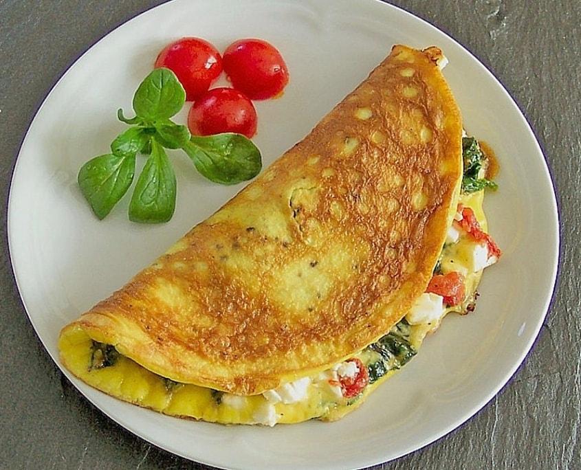 low carb ernährungsplan omlette
