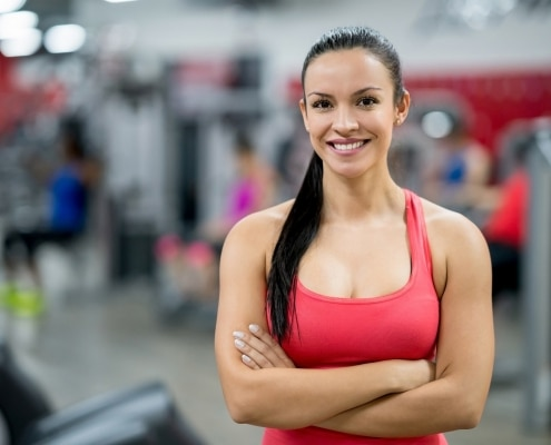 online fitness trainerin